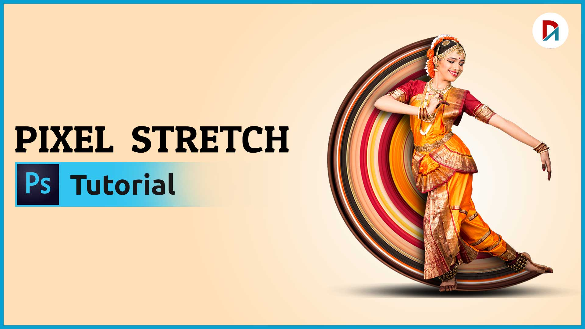 Pixel Stretch Effect Photoshop Step by Step | Designing Artz | #3
